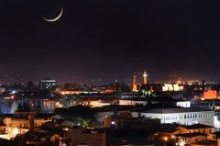 A long exposure of the walled city of Nicosia.